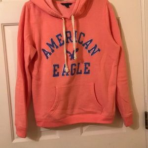American Eagle Outfitters coral hoodie